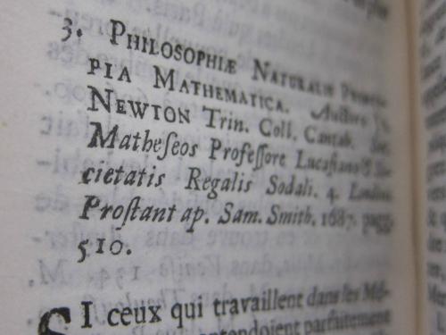 Bibliotheque newton princia