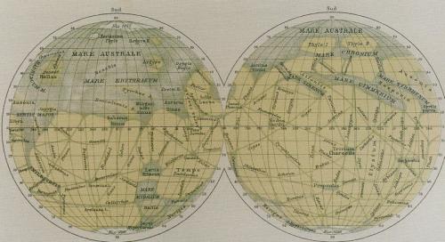 Mars  Flammarion 1892 Schiaparelli