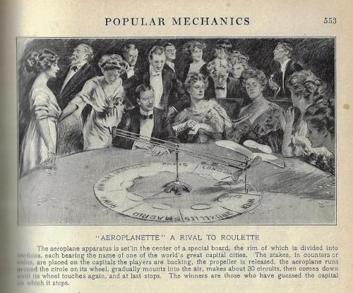 Pop Mech 1912 aeroplane roulette