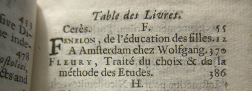 Bibliotheque Universelle 1687
