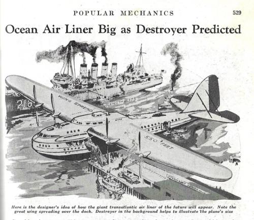 Pop MEch 1936 massive plane