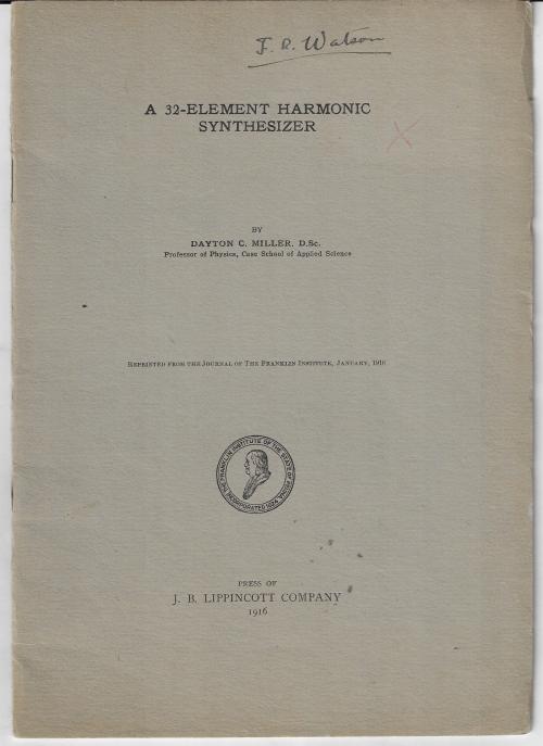 Miller harmonic analuyzer