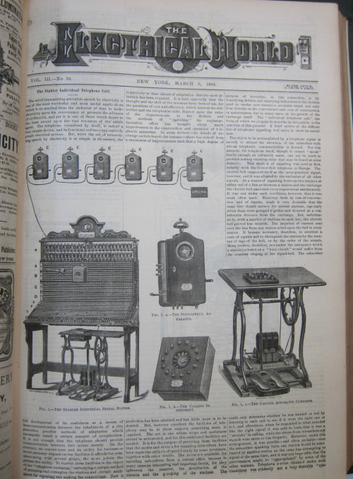 Telephone signal system electrical world full page