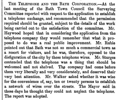 Telephone 1886 The Engineer
