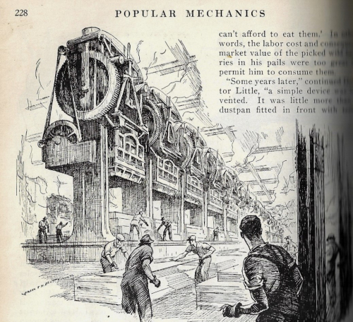 Pop Mech 1932 Machines Slaves or Masters steam hammer