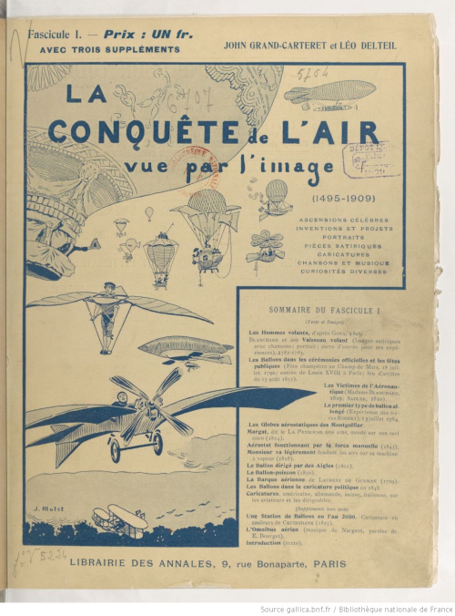Aviation conquest of the air 1909