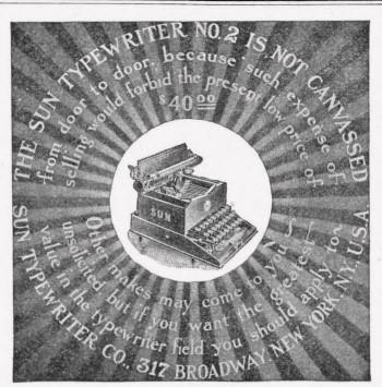 Typewriter Sun 1909