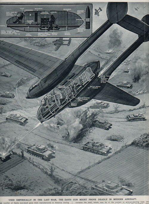 Aircraft cross section Davis non recoil