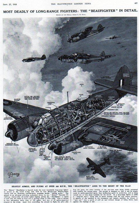 Aircraft cross section Beaufighter