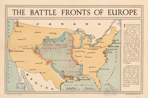 WWI Map battlefronts LC _2_