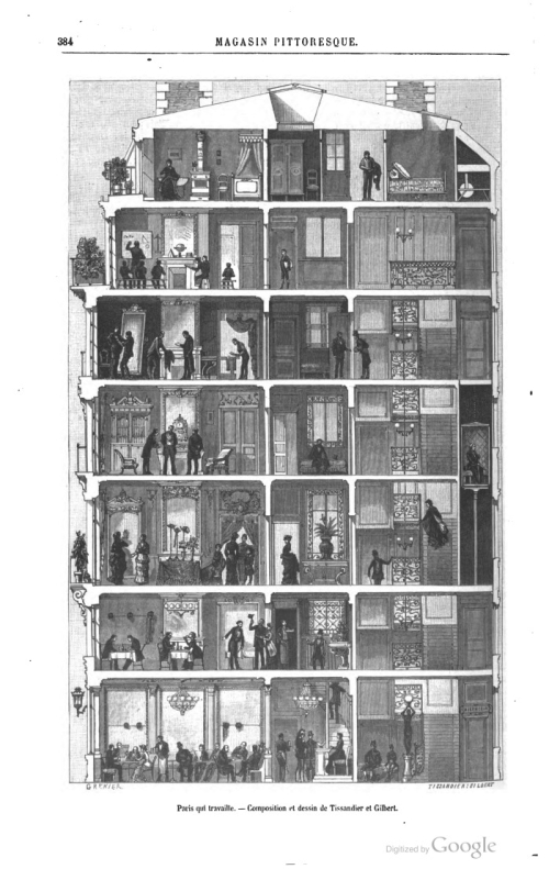 Cross section paris house 1883 le_magasin_pittoresque_page_2