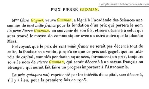 Guzman prize