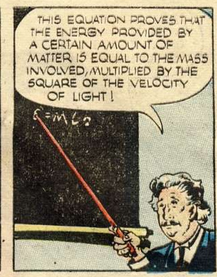 E=MC2 comic book 1946