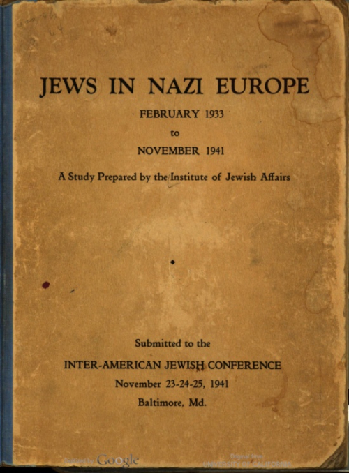 Jew in Nazi Europe 1941