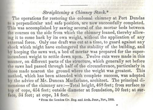 JFI 1860 straightening chimney