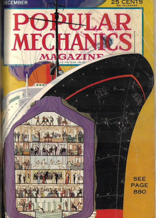 Pop Mech 1932 Normandie cross section
