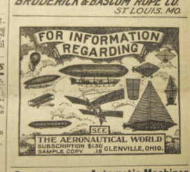 Aviation aeronautical world 1903