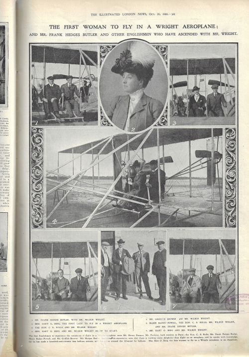 ILN 1908 wright flyer Mrs berg