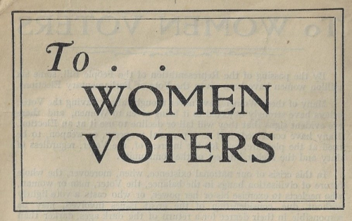 Books covers to women voters detail