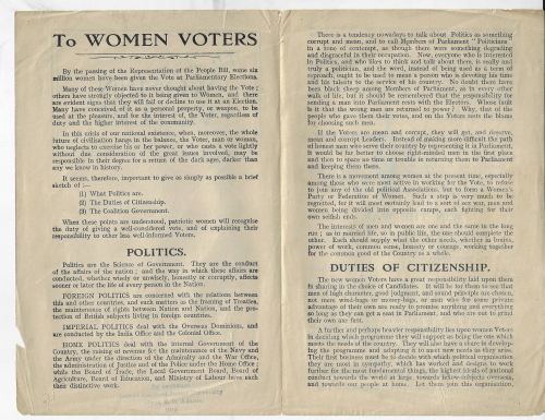 Books covers women voters inside