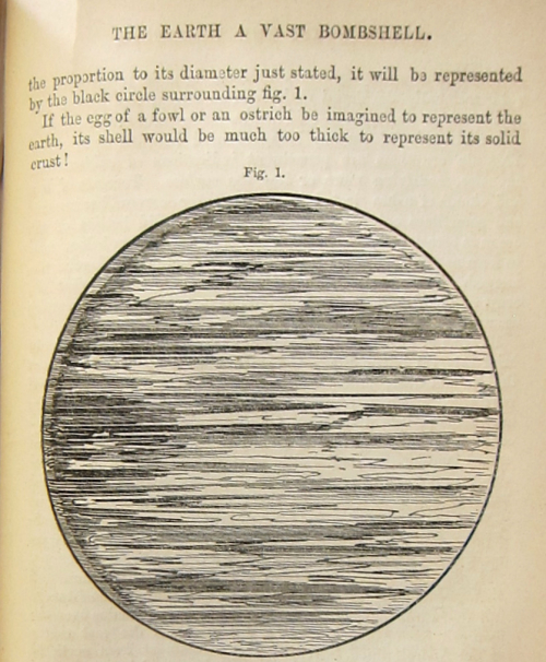 Earth a vast bombshell 1854