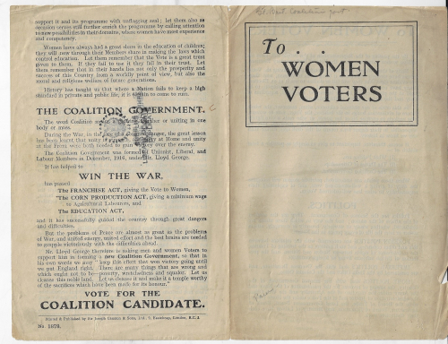 Books covers to women voters