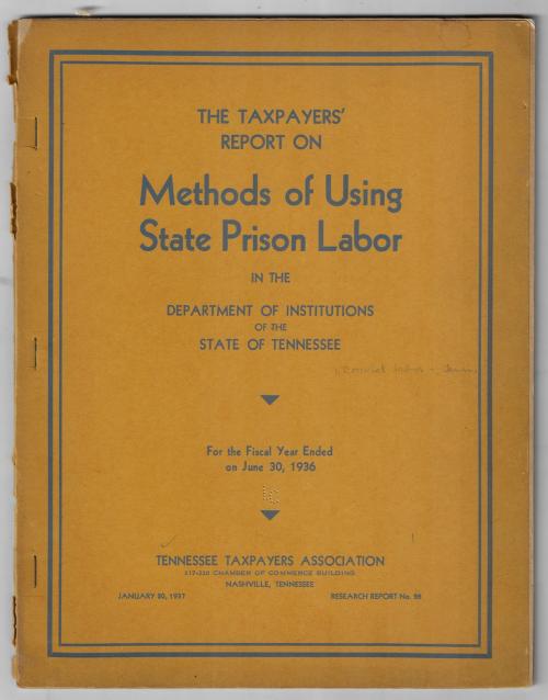 Americana tennessee prison labor