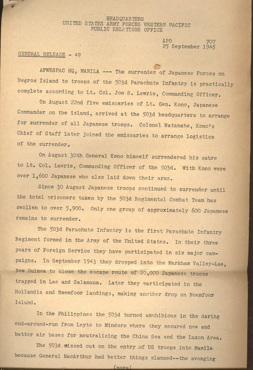 Japanese surrender 25 September Yamashita _2_