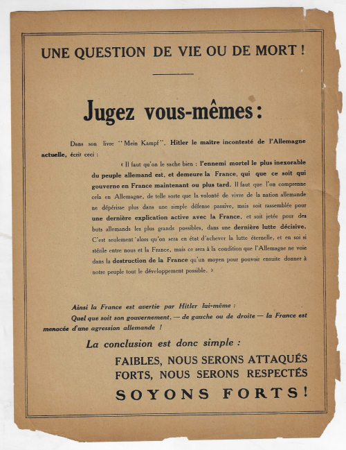 French poster Jugez vous-memes