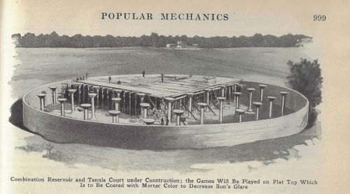 Pop Mech 1926 tennis court resevoir
