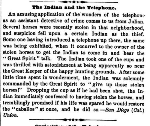 Sci Am 1880 Indians telephone