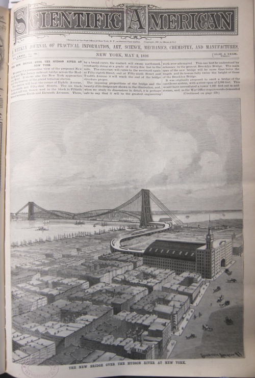 SciAm 1896 Hudson River Bridge