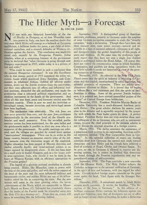 Nation 1933 Forecast