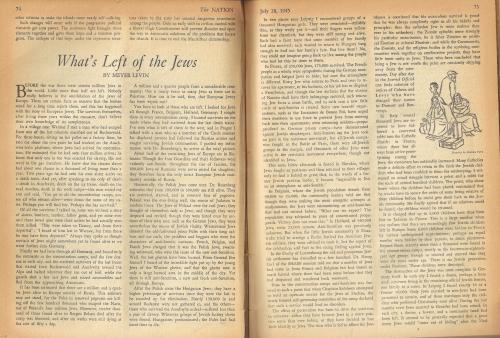 Nation July 26 1945 whats left of jews