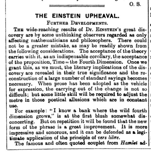 Einstein Punch March 2 1921