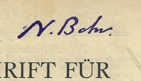Guttinger 1933 Bohr sig