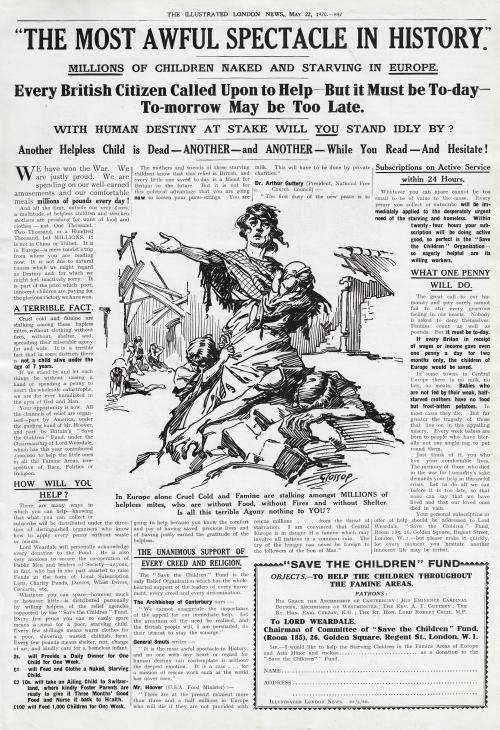 ILN 1920 Famine ad