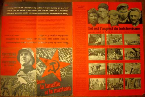 German propaganda hammer sickle covers poster 1_