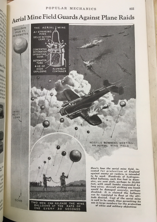 Pop Mech 1939 air mines explanation