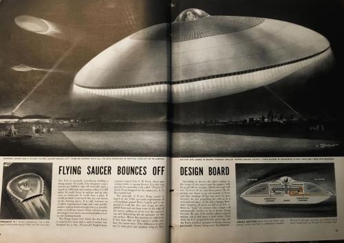 Life 1954 Flying Saucer
