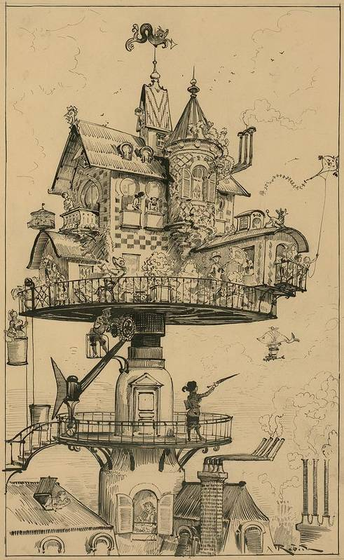 Futuristic-drawing-by-albert-robida-everett